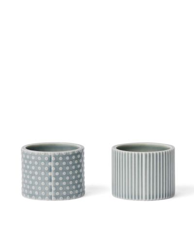 Pipanella Egg Cups Dot and Drum, Blue Grey